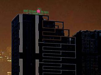 Sản xuất thi công bộ chữ nổi trên nóc tòa nhà