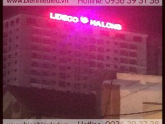Thi công bộ chữ nổi đèn led trên nóc tòa nhà